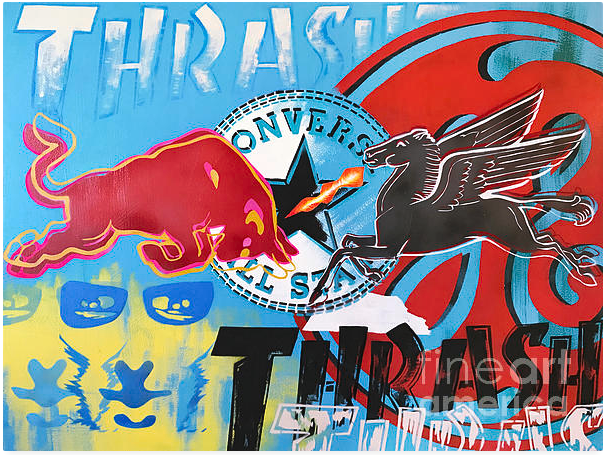 adrenaline pop art piece bullfighting